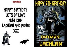 Batman Kids Personalised Birthday Card - any Name,  Age & Message