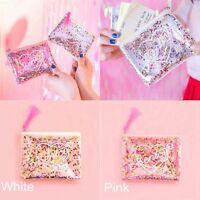 Holographic Transparent Jelly Bag Sequins Tassel Envelope Purse Coin Holder