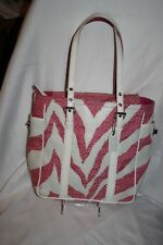 Coach Limited Edition Pink and White Zebra Print Tote