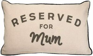 Sass & Belle Reserved For Mum Filled Decorative Cushion - Mothers Day Gift Idea