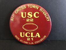 Vintage 51st Crosstown Rivalry USC VS UCLA  1981 Football Pin