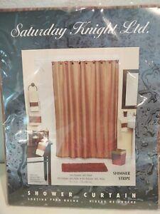 Saturday Knight Ltd. - Shower Curtain - Shimmer Stripe - NIP