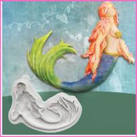 Silicone Mold Swimming Mermaid Fondant Sugarcraft Cake Bakeware Decoration Tools