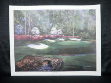 Bobby Sikes Hole 13 Augusta National Golf L/E Litho