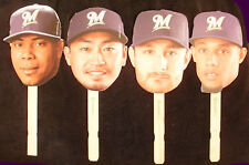 Set of 4 - 2013 Milwaukee Brewers Heads - Peralta, Aoki, Gomez and Lucroy