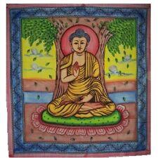 Tenture Couverture Indienne Bouddha assis en lotus 240x210cm Coton Décoration
