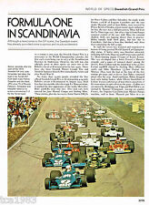 Old SWEDISH GRAND PRIX Formula 1 F1 Article / Pictures / Photo