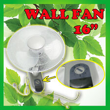 "16"" 40cm Oscillating Wall FAN Hydroponic Tent Grow Light Office Air ventilation"