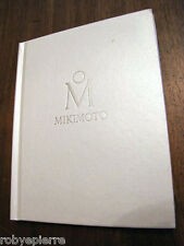 Vendo DEPLIANT pubblicità catalogo JEWELLERY MIKIMOTO milano collection C RIGIDA