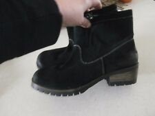 new no box coconuts by matissed black suede ankle boots zip side 9 m