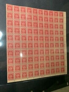 US #680, VF MNH Sheet of 100 2¢ Stamps Plate #19829 Right Mid - Brookman $190.00