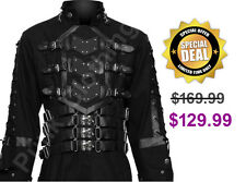 Hellraiser Dark Goth Coat Gothic Steampunk Jacket Punk Vampire Men Long Coat