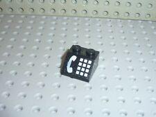 LEGO black slope brick phone ref 3039p12 / Set 4554 6549 2150 2881 4555 ...