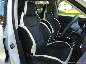 VW AMAROK TIGUAN TOUAREG GTS PAIR SEAT CONVERSION GENUINE ITALIAN LEATHER
