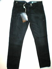 New Womens Designer Moschino Jeans 4 Dark Back Pocket Pins Zippers Crop IT 40