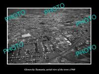 OLD LARGE HISTORIC PHOTO OF GLENORCHY TASMANIA AERIAL VIEW OF THE TOWN c1960