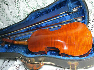 Fine Superb Old French Eugène Corvisier 1910 Labled Violin French Bow 4/4 *Video