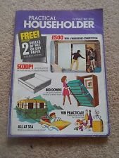 Vintage Retro PRACTICAL HOUSEHOLDER Magazine Oct 1971 + Illustrated+Advertising
