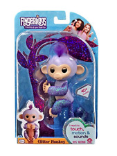 Fingerlings Limited Edition Baby Monkey Kiki Purple Glitter Usa New