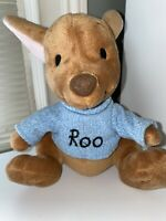 """Disney Parks 8"""" Plush Stuffed Winnie The Pooh ROO With Blue Sweater."""