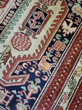 5.5 x 11 Vintage Veg Dye Caucasian Heriz Oushak Antique Serapi Kazak Shirvan