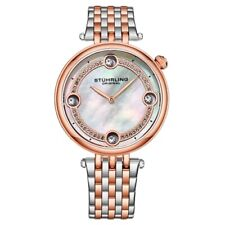 Stuhrling 3999 3 Symphony Mother of Pearl Crystal Accented Quartz Womens Watch