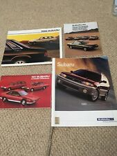 Subaru 80s Plus One 90s Motor Car Brochures Flyers x4