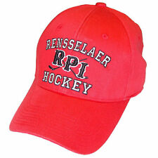 Rensseler RPI Engineers Hockey Top of the World Red High Stick Stretch Fit Cap