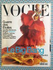 VOGUE PARIS 775 Mars 1997 Haute Couture Big Bang Gaultier Mugler Versace...