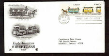 FDC First Day Envelope 20 cent Early American Streetcars 1983