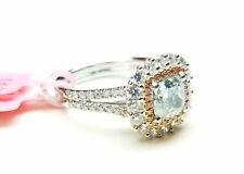 GIA 1.89ct Natural Fancy Green & Argyle 6PP Pink Diamonds Engagement Ring 18K