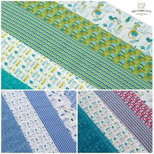 """1 Metre 100% Premium Quilting Cotton, Mermaid Seahorse Ocean Pearl Stars, 44"""""""
