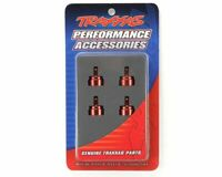 Traxxas Part 3767X Shock caps aluminum red anodized Slash Rustler New in Package
