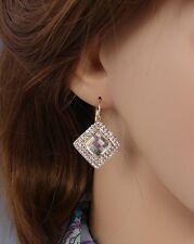 rombo orecchini Oro bianco Strass,zircone,cristalli ,Da Donna, idea regalo