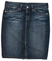 Levi's Women's Jeans Denim Short Mini Skirt Blue Cotton Pocket Button Zip Size M