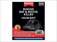 Rentokil - Rodine Rat & Mouse Killer - Grain Bait - Poison - 2, 4 or 6 Sachets