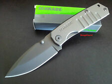 "Schrade 4.8"",H/Duty Frame Lock Drop Point Blade SCH304 Folding Pocket Knife,work"
