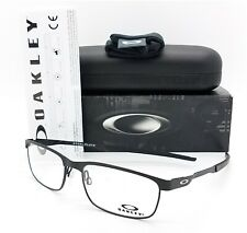 NEW Oakley Steel Plate RX Prescription Frame Coal OX3222 0156 56mm AUTHENTIC