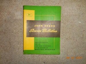 Vintage 1965 John Deere Service Bulletins In Folder