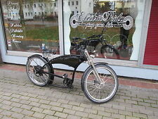 e-Bike Cruiser Herren Fahrrad Beachcruiser Chopper Basmann High Power