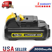 Max 3.0Ah For DEWALT 12Volt MAX Lithium DCB120 DCB127 DCF813 12V battery Pack US