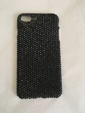 Jet Black Crystal BLING Back Case For IPHONE X made  with SWAROVSKI CRYSTALS