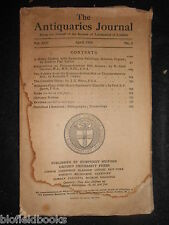 THE ANTIQUARIES JOURNAL - 1933 - Vol 13/Pt 2, Colehill Helm, Thundersbarrow Hill