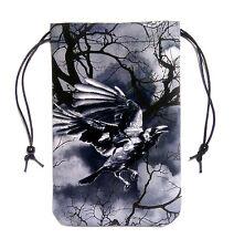 "Raven Sky 2 Tarot Bag 5""x7"" Runes Dice Drawstring Pouch Pendulum Crystals"