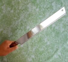 "Cook Knife Chef Knives KOM KOM Wood Handle Kitchen Long Blade 12 "" Stainless"