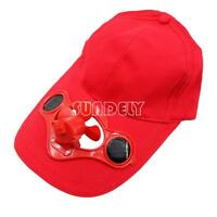 NEW! Outdoor Solar Sun Power Hat Cap Cooling Cool Fan for Golf Baseball Sport