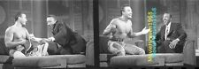 Jean-Claude Van Damme NO SHIRT ARSENIO HALL SHOW 35mm SLIDE NEGATIVE 7672 PHOTO