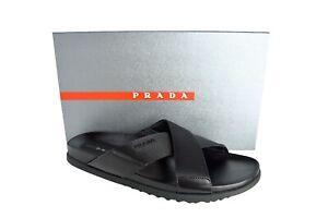 New Authentic PRADA Mens Shoes Slippers Sz US9.5 EU42.5 UK8.5 4X3210