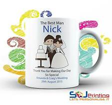 Personalised The Best Man Wedding Mug Thank you Gift with Box