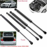 For BMW 3Series E46 Sedan 2000-2006 Front Bonnet +Tailgate Gas struts x4